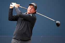 USA's Phil Mickelson tees off the 1st during preview day four of The Open Championship 2018 at Carnoustie Golf Links, Angus. PRESS ASSOCIATION Photo. Picture date: Wednesday July 18, 2018. See PA story GOLF Open. Photo credit should read: Jane Barlow/PA Wire. RESTRICTIONS: Editorial use only. No commercial use. Still image use only. The Open Championship logo and clear link to The Open website (TheOpen.com) to be included on website publishing.