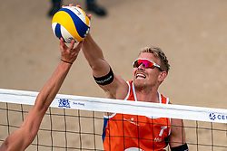 Stefan Boermans (1) of The Netherlands in action during CEV Continental Cup Final Day 1 - Women on June 23, 2021 in The Hague