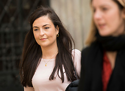 © Licensed to London News Pictures. 11/05/2021. London, UK. Labour Party staff member Laura Murray arrives at The Royal Courts of Justice in London where she is currently being sued by Television presenter RACHEL RILEY for libel over a social media post. Photo credit: Ben Cawthra/LNP