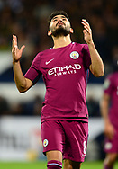 Ilkay Gundogan of Manchester City reacts after a near miss .Carabao Cup 3rd round match, West Bromwich Albion v Manchester City at the Hawthorns stadium in West Bromwich, Midlands on Wednesday 20th September 2017. pic by Bradley Collyer, Andrew Orchard sports photography.