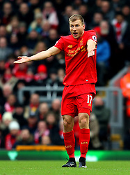Ragnar Klavan of Liverpool reacts in frustration - Mandatory by-line: Matt McNulty/JMP - 21/01/2017 - FOOTBALL - Anfield - Liverpool, England - Liverpool v Swansea City - Premier League