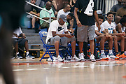 THOUSAND OAKS, CA Sunday, August 12, 2018 - Nike Basketball Academy. Ron Harper sits on the bench. <br /> NOTE TO USER: Mandatory Copyright Notice: Photo by Jon Lopez / Nike