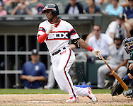 CHICAGO - AUGUST 28:  Tim Anderson #12 of the Chicago White Sox bats against the Seattle Mariners on August  28, 2016 at U.S. Cellular Field in Chicago, Illinois.  The White Sox defeated the Mariners 4-1.  (Photo by Ron Vesely/MLB Photos via Getty Images)  *** Local Caption *** Tim Anderson