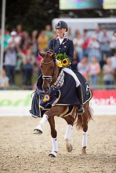 Brouwer Kirsten (NED) - Dancer Forever<br /> FEI World Dressage Championships for Young Horses<br /> Internationales Dressur- und Springfestival - Verden 2014<br /> © Dirk Caremans