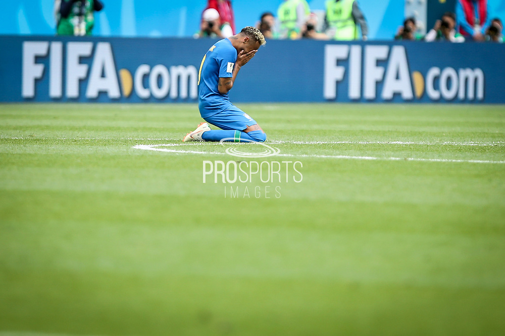 Neymar of Brazil reacts after the 2018 FIFA World Cup Russia, Group E football match between Brazil and Costa Rica on June 22, 2018 at Saint Petersburg Stadium in Saint Petersburg, Russia - Photo Thiago Bernardes / FramePhoto / ProSportsImages / DPPI
