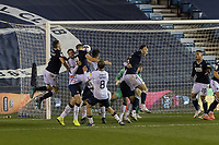 Football - Sky Bet Championship - Millwall vs Luton Town - The Den<br /> <br /> Matt Smith (Millwall FC) gets his head to the ball warning Luton Town shortly before he scores from a similar position<br /> <br /> COLORSPORT/DANIEL BEARHAM