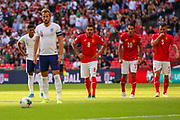Harry Kane of England prepares to take a penalty kick during the UEFA European 2020 Qualifier match between England and Bulgaria at Wembley Stadium, London, England on 7 September 2019.