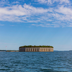 Fort Gorges in Casco Bay, Portland, Maine.