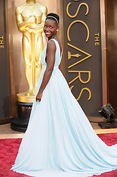 Lupita Nyong'o arriving to the 2014 Oscars at the Hollywood and Highland Center in Hollywood, California, USA,  Sunday, 2nd March 2014. Picture by Hollywood Bubbles / i-Images<br /> UK ONLY<br /> Kenyan Oscar-winning actress Lupita Nyong'o, 31, has been named the world's most beautiful person for 2014 by People magazine. Photo filed Thursday 24th April 2014.