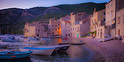 Evening glow on the island of Vis in the Adriatic sea off the coast Croatia