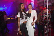 JOURDAN DUNN; ANAN FASHANU, Club DKNY in celebration of DKNYARTWORKS hosted by Cara Delevingne  at The Fire Station, Lambeth High St. London. 12 June 2013
