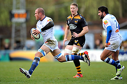 Jannie Bornman of Castres Olympique in attack - Photo mandatory by-line: Patrick Khachfe/JMP - Mobile: 07966 386802 14/12/2014 - SPORT - RUGBY UNION - High Wycombe - Adams Park - Wasps v Castres Olympique - European Rugby Champions Cup