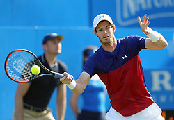 Great Britain's Andy Murray during his match against Australia's Jordan Thompson during day two of the 2017 AEGON Championships at The Queen's Club, London.