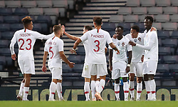 Portugal's Bruma (third right) celebrates scoring his side's third goal of the game with team mates during the International Friendly match at Hampden Park, Glasgow.