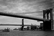 The Brooklyn and Manhattan Bridges