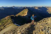 Luke Nelson on a training run in the northern San Juans, Colorado