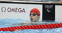 Paralympics London 2012 - ParalympicsGB - Swimming held at the Aquatics Centre  31st August 2012<br />   <br /> Thomas Young competes in the Men's 400m Freestyle - S8 Heat 2 at the Paralympic Games in London. Photo: Richard Washbrooke/ParalympicsGB)