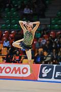 Rebecca Vinti atleta della società La Fenice di Spoleto durante la seconda prova del Campionato Italiano di Ginnastica Ritmica.<br /> La gara si è svolta a Desio il 31 ottobre 2015.