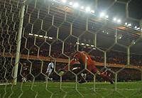 Photo: Jed Wee.<br /> Middlesbrough v FC Basle. UEFA Cup. Quarter-Final. 06/04/2006.<br /> <br /> Massimo Maccarone scores to put Middlesbrough through to the semifinals.