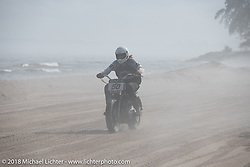 Hammer VanScyoc at the Bradford Beach Brawl, a TROG style beach racing event, during the Harley-Davidson 115th Anniversary Celebration event. Milwaukee, WI. USA. Saturday September 1, 2018. Photography ©2018 Michael Lichter.