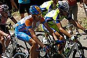 France, Bedoin, 25 July 2009: Bradley Wiggins (GBr) Garmin - Slipstream on Mont Ventoux during Stage 20 - Montélimar to Mont Ventoux (167 km). Photo by Peter Horrell / http://peterhorrell.com .