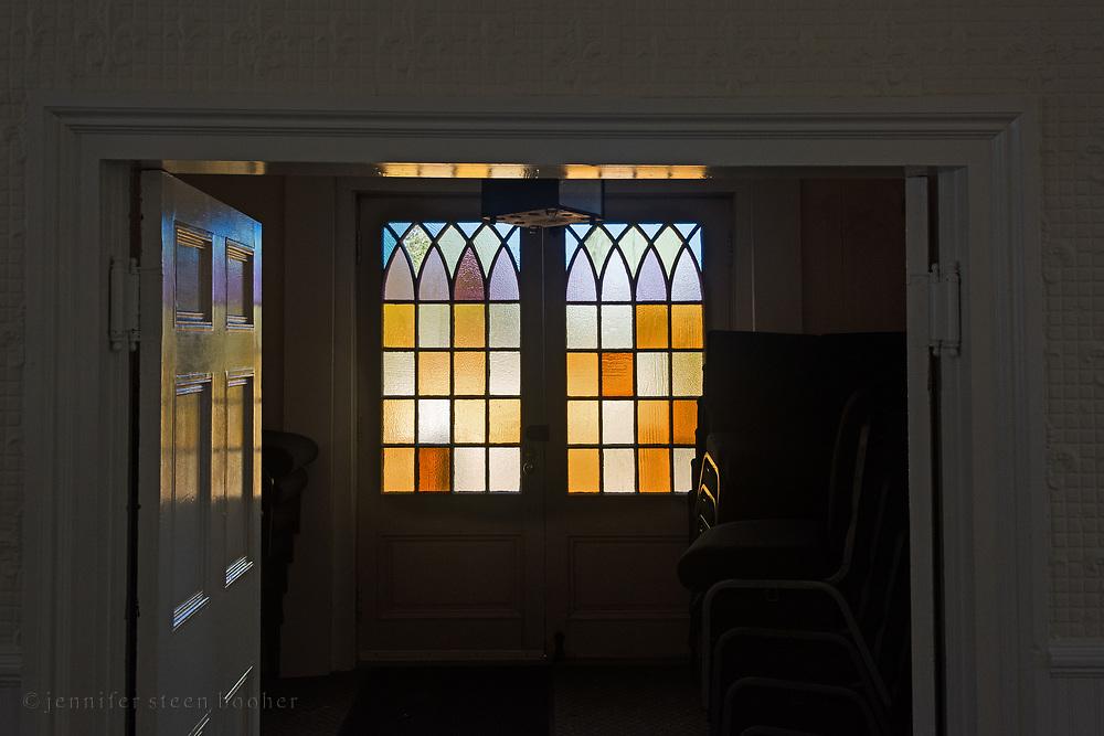 Window 3 on plan.<br /> Manset Union Church, Manset, Maine.