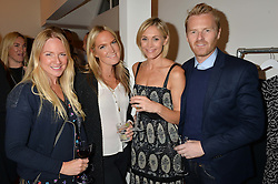 Left to right, ROSIE NIXON, CHRISSIE REEVES, JENNI FALCONER and JAMES MIDGLEY at a party to celebrate the opening of the first Tabitha Webb Retail Store at 45 Elizabeth Street, London on 23rd September 2014.