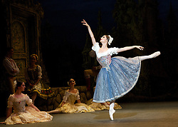 English National Ballet Coppelia <br /> by Ronald Hynd after Marius Petipa<br /> at The London Coliseum, London, Great Britain <br /> 22nd July 2014 <br /> <br /> Shiori Kase as Swanilda<br /> <br /> Yonah Acosta as Franz<br /> <br /> Michael Coleman as Dr Coppelius<br /> <br /> Crystal Costa<br /> Laurretta Summerscales<br /> Senri Kou<br /> Ksenia Ovsyanick<br /> Alison McWhinney<br /> Madison Keesler<br /> <br /> Juan Rodriquez as Inn Keeper<br /> <br /> Tamarin Stott as Inn Keepers wife<br /> <br /> Fabian Reimair as Burgomaster<br /> <br /> Jung ah Choi as Coppelia Doll<br /> <br /> Crystal Costa as dawn <br /> <br /> Laurretta Summerscales as Prayer <br /> <br /> <br /> Photograph by Elliott Franks
