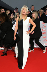 Gaby Roslin attending the National Television Awards 2018 held at the O2, London. Photo credit should read: Doug Peters/EMPICS Entertainment
