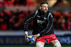 Scarlets' John Barclay during the pre match warm up<br /> <br /> Photographer Craig Thomas/Replay Images<br /> <br /> European Rugby Champions Cup Round 5 - Scarlets v Toulon - Saturday 20th January 2018 - Parc Y Scarlets - Llanelli<br /> <br /> World Copyright © Replay Images . All rights reserved. info@replayimages.co.uk - http://replayimages.co.uk