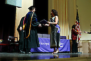 SHOT 5/10/15 3:14:17 PM - Naropa University Spring 2015 Commencement ceremonies at Macky Auditorium in Boulder, Co. Sunday. Parker J. Palmer, a world-renowned author and activist known for his work in education and social change, delivered the commencement speech to more than 300 graduate and undergraduate students along with Naropa faculty and graduate's family members. Naropa University is a private liberal arts college in Boulder, Colorado founded in 1974 by Tibetan Buddhist teacher and Oxford University scholar Chögyam Trungpa. (Photo by Marc Piscotty / © 2014)