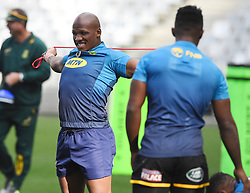 Cape Town-180619 Springbok player Bongi Mbonambi during their training session at Cape Town stadium,the team is preparing for the last test  against England at Newslands on Saturday..Photographer:Phando Jikelo/African News Agency/ANA