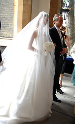 The bride CHLOE DELEVINGNE and her father CHARLES DELEVINGNE at the wedding of Chloe Delevingne to Louis Buckworth at St.Paul's Knightsbridge, London on 7th September 2007.<br /><br />NON EXCLUSIVE - WORLD RIGHTS
