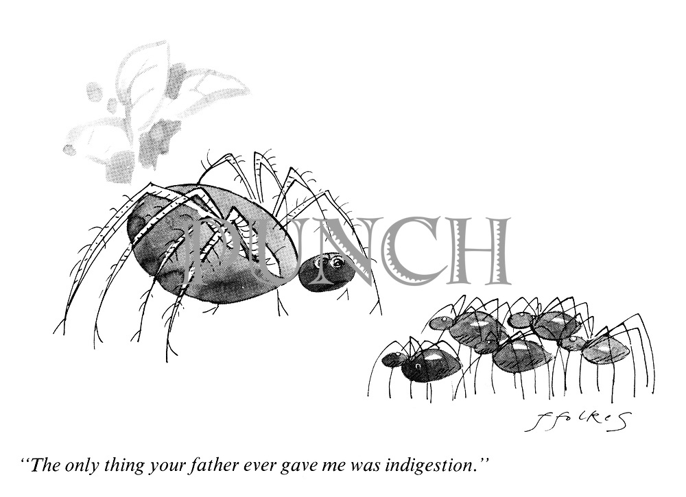 """""""The only thing your father gave me was indigestion."""""""