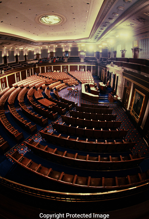 Washington, DC  1988/12/01 The empty seats of  The House of Representatives<br /><br />Photo by Dennis Brack