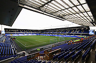 General view inside the stadium. The Emirates FA cup, 3rd round match, Everton v Dagenham & Redbridge at Goodison Park in Liverpool on Saturday 9th January 2016.<br /> pic by Chris Stading, Andrew Orchard sports photography.