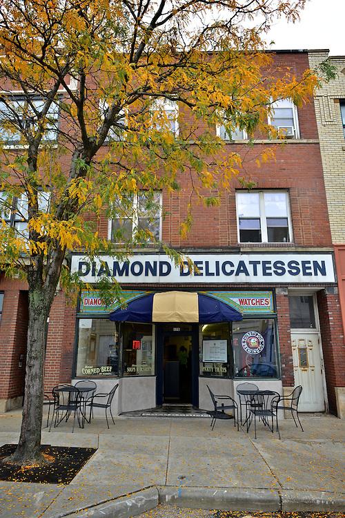 Exterior street view of Diamond Deli.
