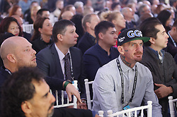 October 1, 2018 - Kiev, Ukraine - Participants attend an official opening of the 56th WBC ( World Boxing Council ) Convention in Kiev, Ukraine, 01 October, 2018. The 56th WBC Convention takes place in Kiev from September 30 to October 05. The event participate of boxing legends Lennox Lewis, Evander Holyfield, Eric Morales, Alexander Usik, Vitali Klitschko and about 700 congress participants from 160 countries. (Credit Image: © Str/NurPhoto/ZUMA Press)