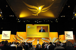 © Licensed to London News Pictures. 19/09/2011. BIRMINGHAM, UK.  Vince Cable delivers his speech at the Liberal Democrat Conference at the Birmingham ICC today (19 Sept 2011): Stephen Simpson/LNP . Photo credit : Stephen Simpson/LNP