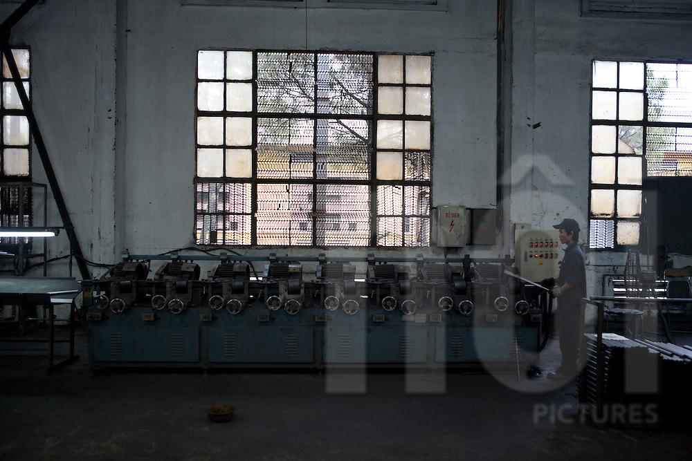 Xuan Hoa factories, Vinh Phuc, Vietnam, Asia. Metalic furnitures workshop.