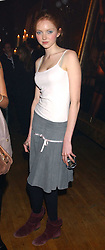 Model LILY COLE at the Myla Debutantes Coming-Out show held at The Porchester Hall, Porchester Road, London on 31st January 2006.<br /><br />NON EXCLUSIVE - WORLD RIGHTS