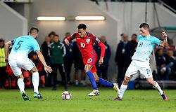 Dele Alli of England takes on the Slovenia defence - Mandatory by-line: Robbie Stephenson/JMP - 11/10/2016 - FOOTBALL - RSC Stozice - Ljubljana, England - Slovenia v England - World Cup European Qualifier