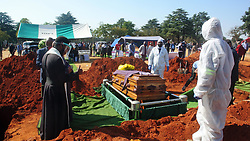 South Africa  - Johannesburg – Covid funeral.  Nathan van Rooi who died of covid-19 related complications is buried at Wespark cemetery on Thursday. The family followed the restrictions imposed by authorities and could not carry the coffin or close the grave.  He was buried a day after what would have been his 58th birthday. 7 funerals .  Picture: Timothy Bernard/African News  Agency(ANA)