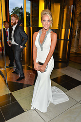 TV presenter LAURA HAMILTON at the Revlon Choose Love Masquerade Ball held at the V&A Museum, Cromwell Road, London on 21st July 2016.
