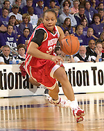 Western Kentucky guard Charlotte Marshall (35) drives to the basket against Kansas State, during the first half at Bramlage Coliseum in Manhattan, Kansas, March 28, 2006.  K-State defeated Western Kentucky 57-56 in overtime of the WNIT Semifinals.
