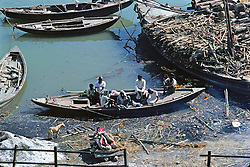 Body Ready For Cremation Along The Ganges River