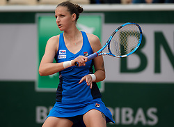 May 29, 2019 - Paris, FRANCE - Karolina Pliskova of the Czech Republic in action during her second-round match at the 2019 Roland Garros Grand Slam tennis tournament (Credit Image: © AFP7 via ZUMA Wire)