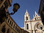 The San Ignacio church, on Plaza San Ignacip, in downtown Malaga, Spain