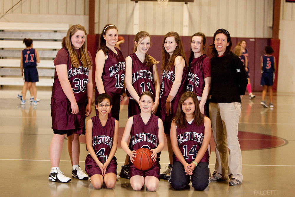 The Master's School, West Simsbury, CT. 2010-2011. Girls Middle School basketball.  (Photo by Robert Falcetti). .