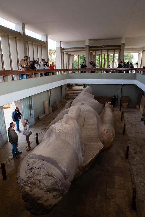 Colossus of Rameses II in the open air Mit Rahina Museum, Al Badrashin, Giza Governate, Egypt.